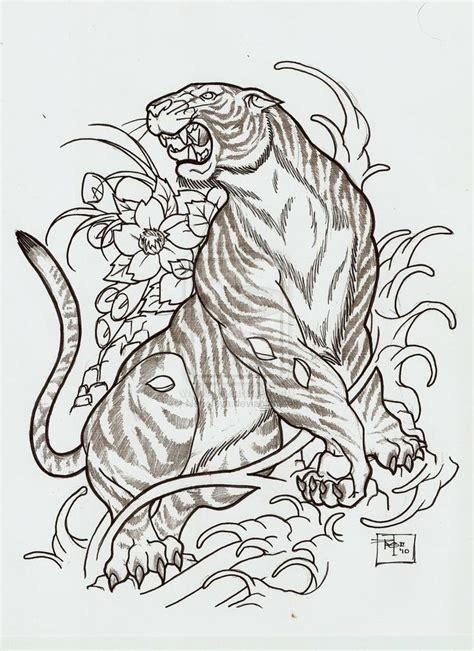 oriental tattoo stencils japanese style tiger i want this done to make up the