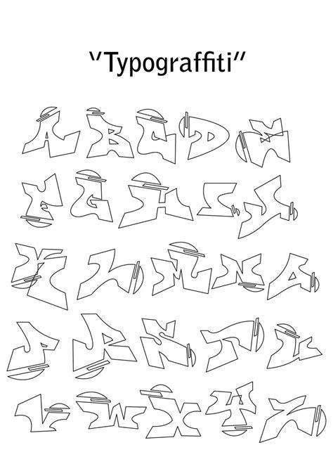 gambar graffiti alphabet collection drawing bagi teman