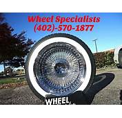 16 Inch Chrome 100 Spoke Deep Dish Wire Wheels Dayton