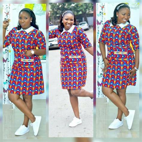 celebrities  ankara short gown styles