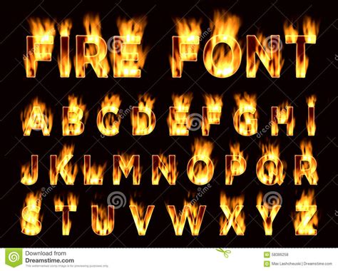 printable flame font fire font plum letters font on fire stock illustration