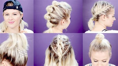 Hairstyles Images by 7 Easy Workout Hairstyles Tutorial Milabu