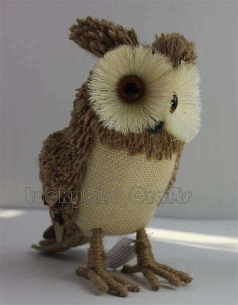 Handmade Owl Decorations - owl decoration burlap owl handmade owl ornament
