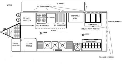 concession trailer floor plans food truck floor plans custom built concession trailers