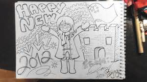 new year drawing pictures happy new year drawing new calendar template site