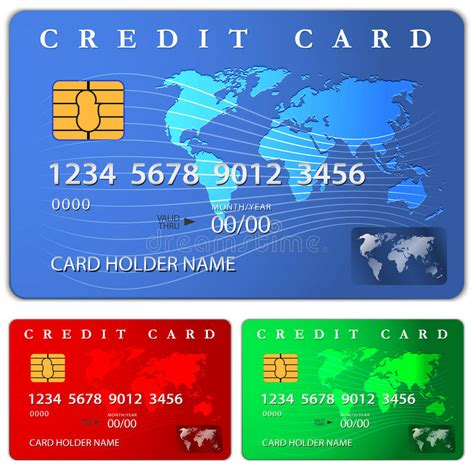 Credit Card Design Template Vector by Credit Or Debit Card Design Template Stock Vector