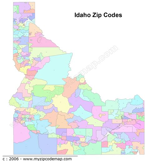map usa states cities zip codes idaho zip code maps free idaho zip code maps