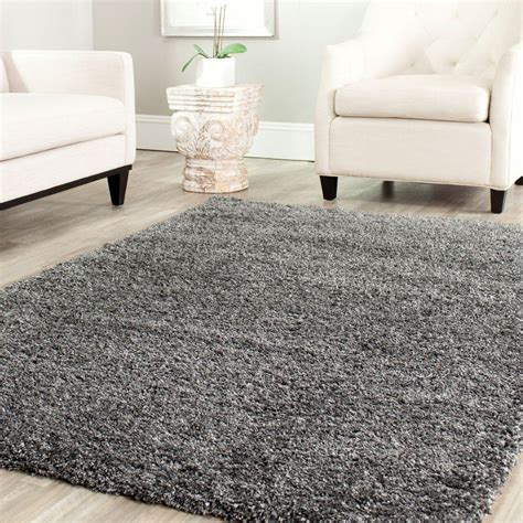 gray rug safavieh california shag gray 8 ft x 10 ft area rug sg151 8484 8 the home depot