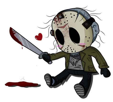chibi girls horror an artwork of jason voorhees google search horror interest artwork horror and