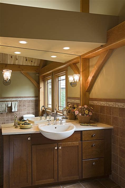 woodhouse timber frame home contemporary bathroom