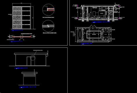 pattern generator autocad platform housing for electrical generator dwg block for