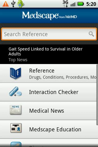 medscape for android top 15 free android apps for healthcare professionals