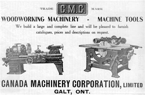 history of woodworking tools canada machinery corp ltd cmc history
