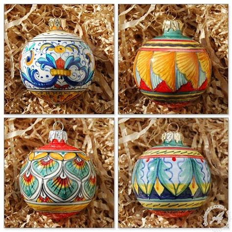 christmas decorations in italy facts ornament set handmade in deruta italy thatsarte finely handcrafted genuinely