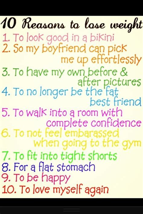 Weight Loss No Reason To Exercise by 10 Reasons To Lose Weight Fitness Inspiration
