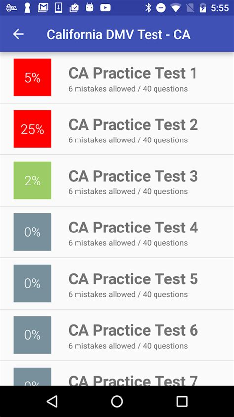 Free Dmv Practice Test For California Permit 2018 Ca | california dmv practice test 2018 android apps on google