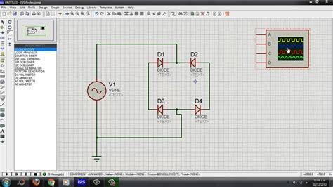 diode bridge in proteus rectificador de onda completa proteus funnydog tv