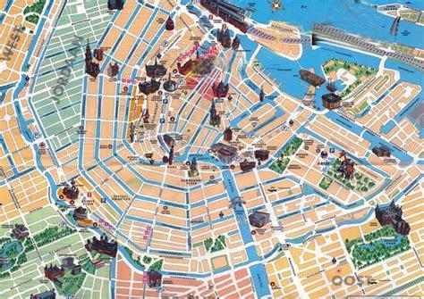 dove soggiornare ad amsterdam mappa con i monumenti di amsterdam fidelity viaggi