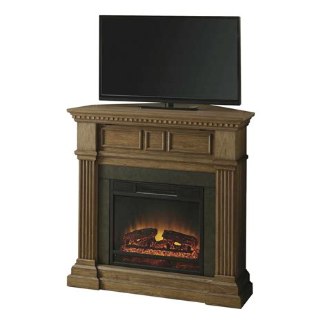 Lowes Corner Fireplace by Shop Style Selections 42 In W 5 120 Btu Light Driftwood
