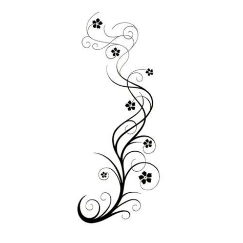 vine tattoo design vine swirly vine with flowers design