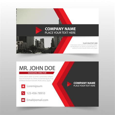 business cards shapes templates business cards with arrow shapes vector free