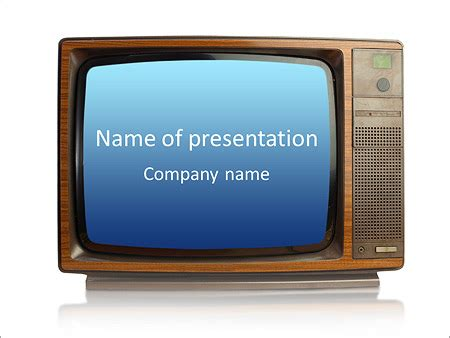 Old Fashioned Tv Powerpoint Template Backgrounds Id 0000007030 Smiletemplates Com Tv Powerpoint Template