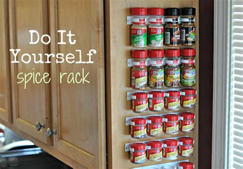 Do It Yourself Spice Rack 50 organizing ideas for every room in your house jamonkey
