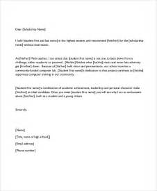 Scholarship Letter Of Recommendation From Coach Sle Recommendation Letter Format 6 Documents In Pdf Word