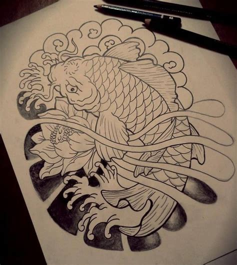 koi tattoo draw by lilithhate on deviantart