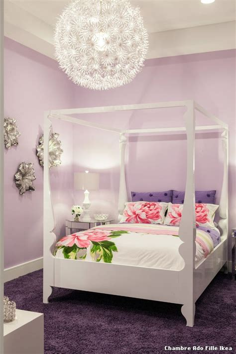 chambre ado fille ikea with classique chic chambre de b 233 b 233