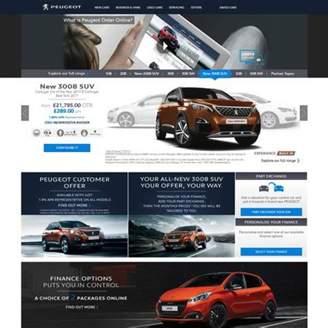 car maker peugeot peugeot is first car maker in the world to launch online