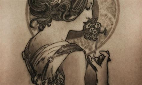 alphonse mucha tattoo stunning tattoos inspired by alphonse mucha