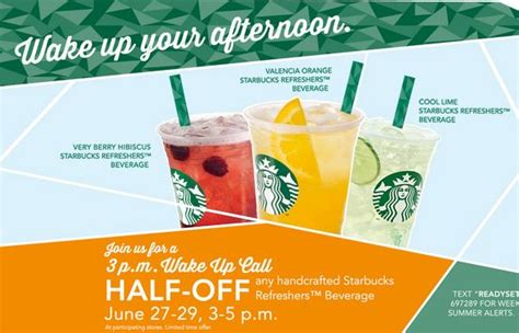 Handcrafted Starbucks Drinks - half any handcrafted starbucks refreshers july 27 29