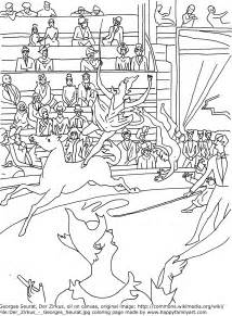 georges seurat coloring pages