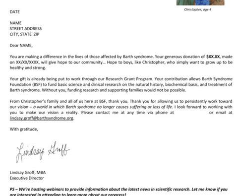 Fundraising Letter Ps letter nonprofit marketing zone
