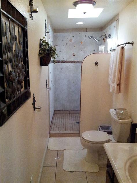 Master Bathroom Shower Tile Ideas A Walk In Shower Using Sea Shells Walk In Showers