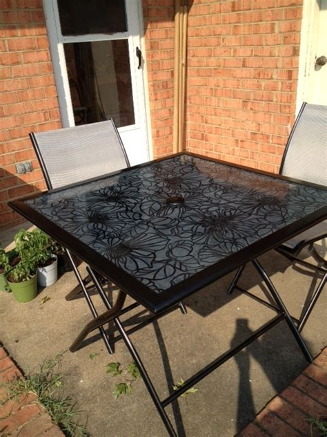 Diy Patio Table Top Refresh Renew Restyle Decoupage Glass Tabletop
