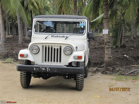 thar jeep white my first new jeep the mahindra thar di finally team bhp