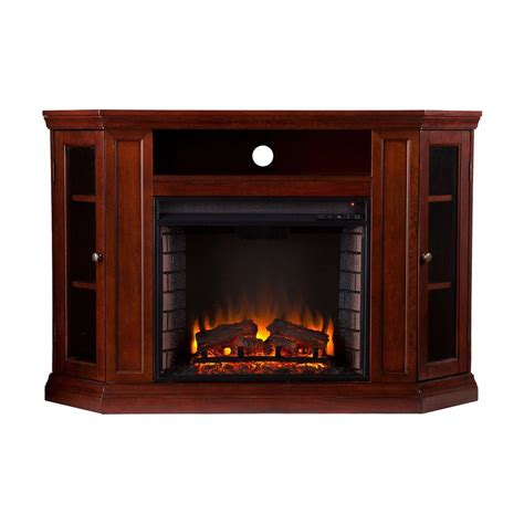 Southern Enterprises Carter 48 In Convertible Media Corner Electric Fireplaces Home Depot