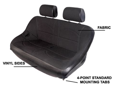 utv bench seat vw utv 42 quot bench seat w adjustable headrest black vinyl