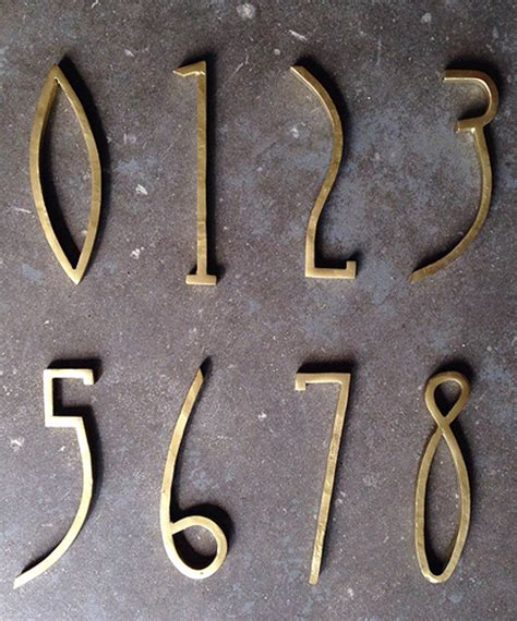 craftsman house numbers craftsman bronze house numbers nova68 modern design