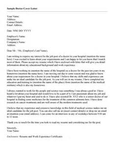 cover letter exles for doctors doctor cover letter