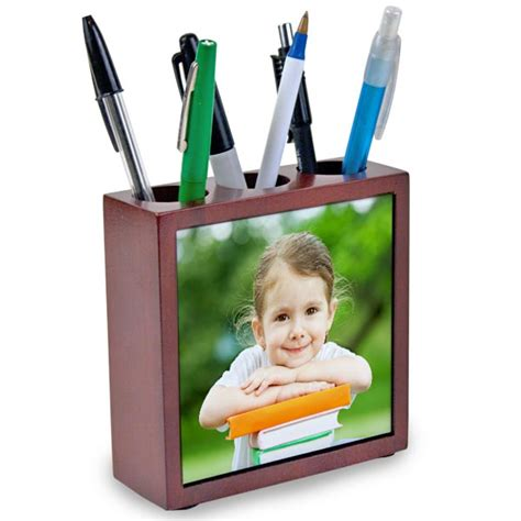 personalized gifts for office desk custom desk organizer photo pencil holder mailpix