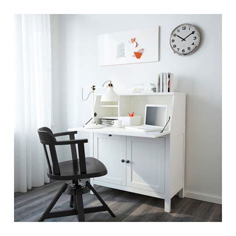 ik饌 bureau hemnes bureau white stain 89x108 cm ikea