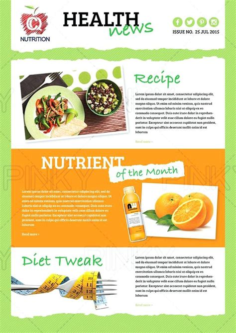Nutrition Newsletter Templates Best Business Template Wellness Newsletter Templates