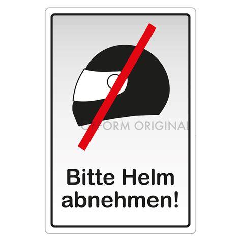 Aufkleber Helmverbot by Ofform Folienschild Piktogrammschild Aufkleber Quot Bitte Helm