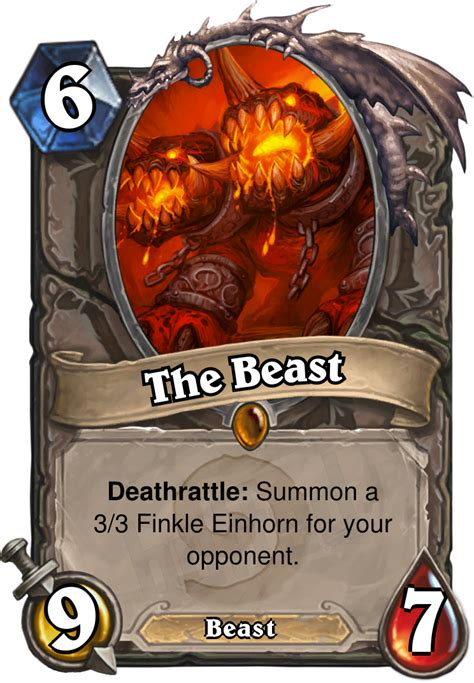 Hearthstone Beast Deck by The Beast Minion Card Hearthstone Database Guides