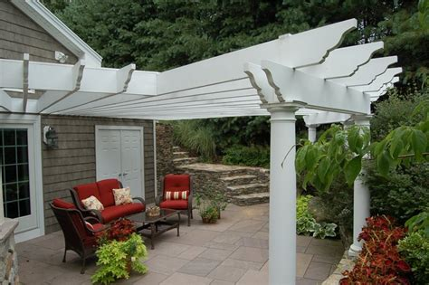 Attached Patio Cover Designs Pergola And Patio Cover Leominster Ma Photo Gallery