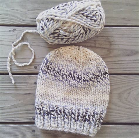 knit hat pattern thick yarn make this simple knit hat with wool ease thick quick