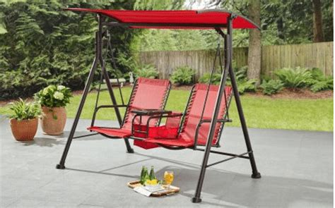 Patio Swing With Canopy And Table Swing With Canopy Outdoor Room Ideas